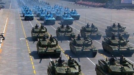 軍事パレード中国