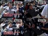 朝鮮総連家宅捜索(10月14日)5 警察ともみ合い