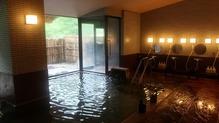 越後長野温泉「嵐渓荘」・女湯洗い場