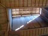 「野沢温泉」大湯の高い天井