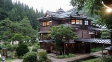 越後長野温泉「嵐渓荘」・山の湯からの眺め