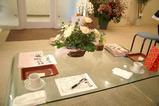 サロンのテーブル