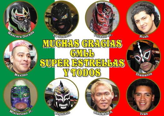 MUCHAS GRACIAS CMLL SUPER ESTRELLAS Y TODOS