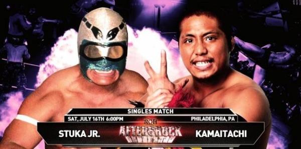 7月16日 ROH ストゥーカJr.vsカマイタチ
