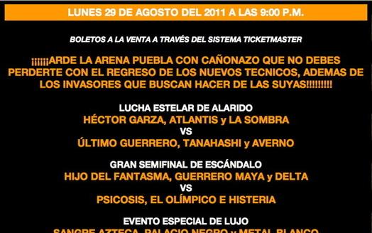 LUNES 29 DE AGOSTO DEL 2011 PUEBLA