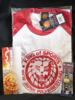 ライオンマークTシャツ IWGPヘビー級チャンピオンベルトストラップ