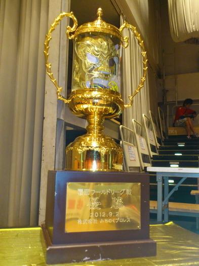 ふく面ワールドリーグ戦 優勝トロフィー