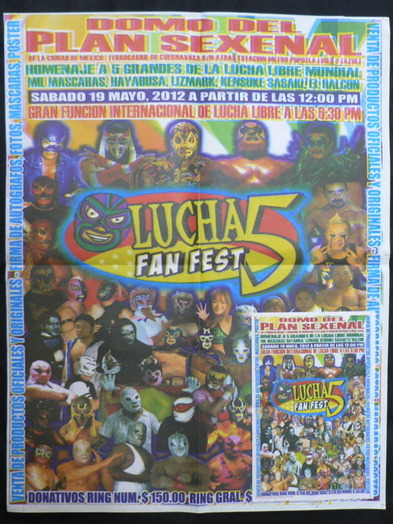 LUCHA FAN FEST 5 ポスター チラシ