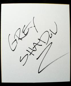 グレイ・シャドー サイン