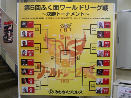 第5回ふく面ワールドリーグ戦 対戦表