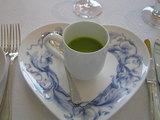 ソラマメの冷製スープ