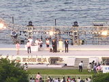会場で行われた式典、コンサート