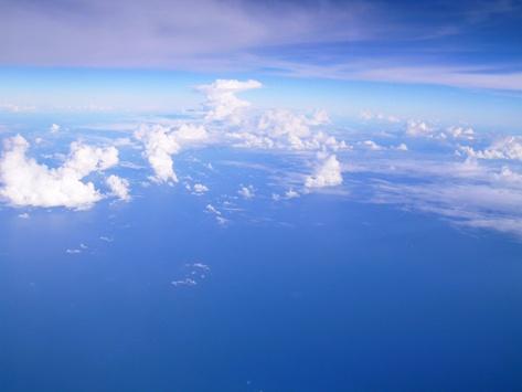 機内からの空1