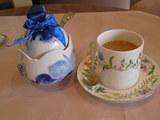 きれいなカップで、お茶