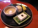 鱧鮨 豆腐味噌漬 百合ね 穴子玉子焼き