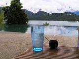 レモンシャーベットとお水のサービス