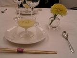昼のコース、蝶 冷製コーンスープ