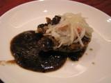 帆立の黒豆ソース