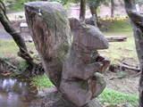 木彫りのリス