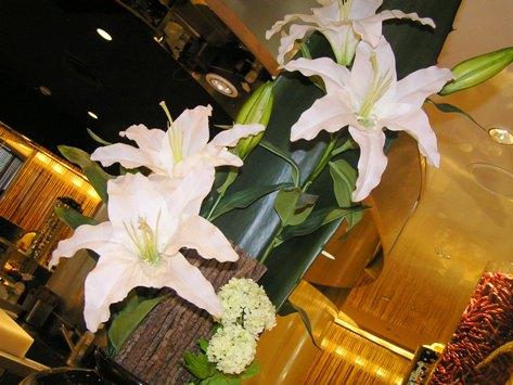 リージェントホテルのレストランのお花
