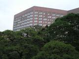 庭園から観たホテル