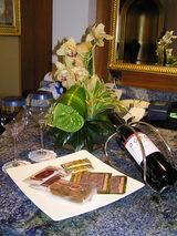 本高砂やのお菓子とワイン