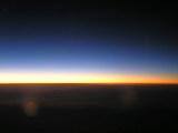 機内から見えた日の出