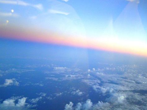 機内からの空2