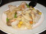 大海老と季節野菜のあっさり炒め