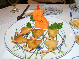 マンダリン夕食 蟹の揚春巻き