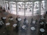 上から見下ろす1階のカフェ