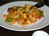 鶏肉と松の実炒め