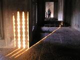 第3回廊内部の連子窓の影