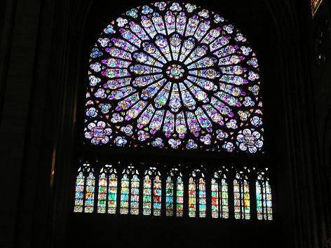 ノートルダム寺院、バラ窓