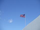 ハワイの空と星条旗