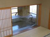お部屋から見える客室露天風呂