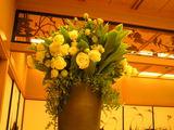 入り口に飾られた トルコ桔梗