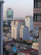 窓から見えるサイゴントレードセンター