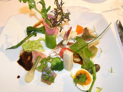静岡、三島産野菜の前菜