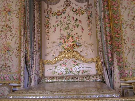ベルサイユ宮殿、マリーアントワネットのベッド
