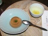 デザートと柚子茶