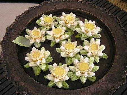 アマンサラに飾ってある蓮の花