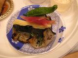 和食の一皿には鮎も…