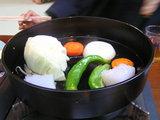 オイル焼きの 野菜