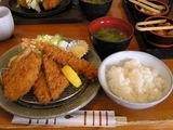 海老ひれ盛り合わせ定食