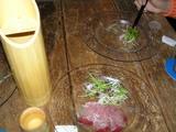 竹の日本酒 寒ぶりのサラダ仕立