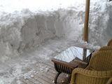 テラスの雪