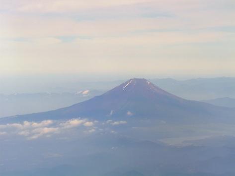 機上から見た富士山!