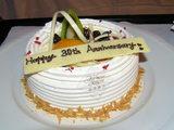 結婚30周年のケーキ
