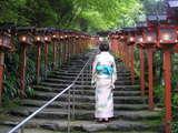貴船神社に 続く参道